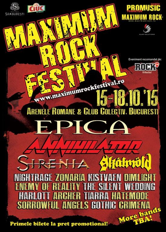 Inca 4 confirmari la Maximum Rock Festival 2015