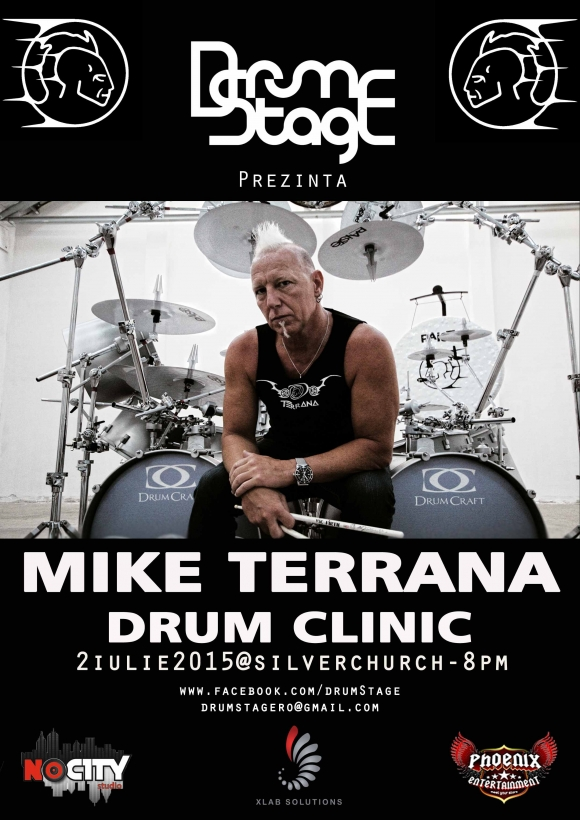 Mike Terrana sustine un Drum Clinic in club Silver Church