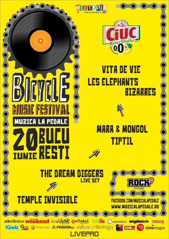 Vita de Vie, Les Elephants Bizarres, Mara & Mongol, TiPtiL, The Dream Diggers si Temple Invisible la Bicycle Music Festival