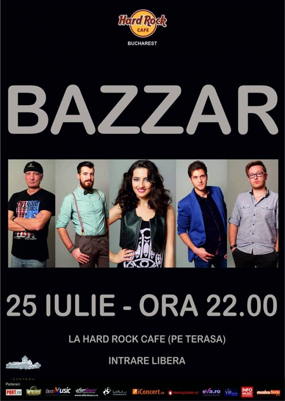 Concert Bazzar la Hard Rock Cafe