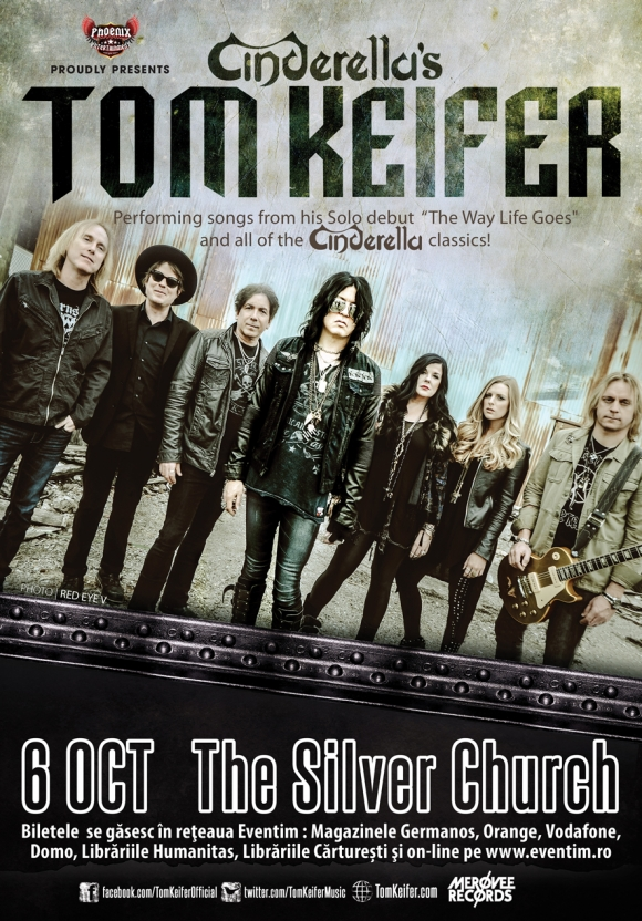 Concert Tom Keifer in premiera in Romania