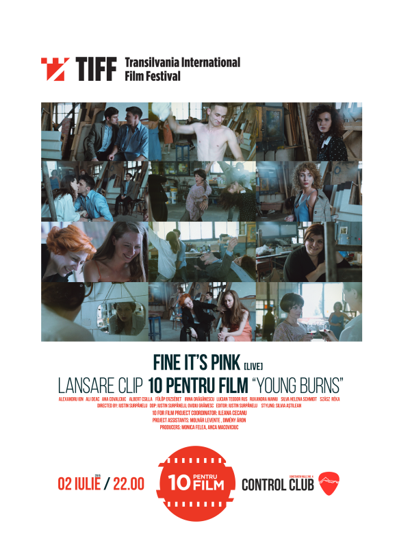 Fine It`s Pink live - lansare clip 10 pentru Film 'Young Burns' in Club Control