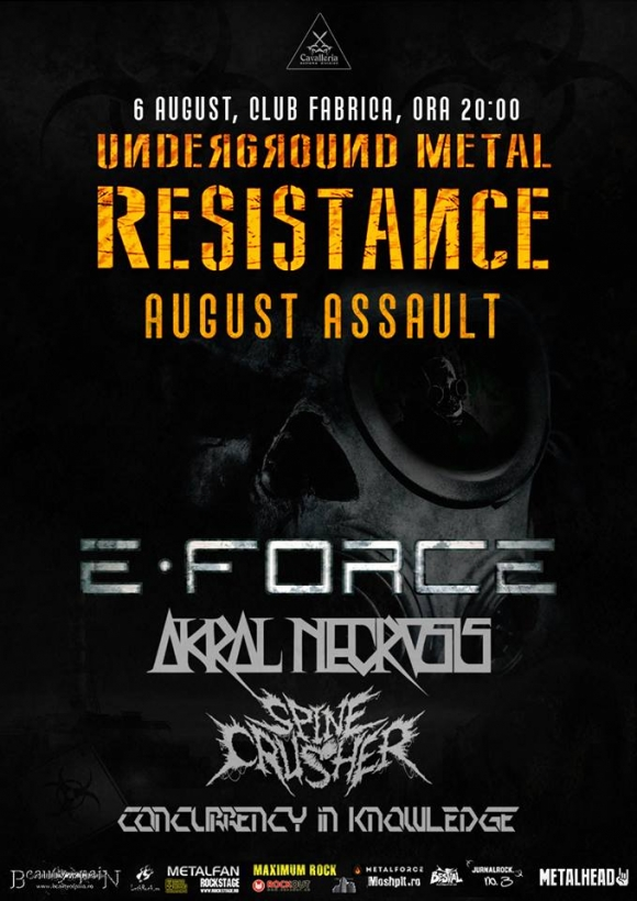 Metal Resistance August Assault in Club Fabrica