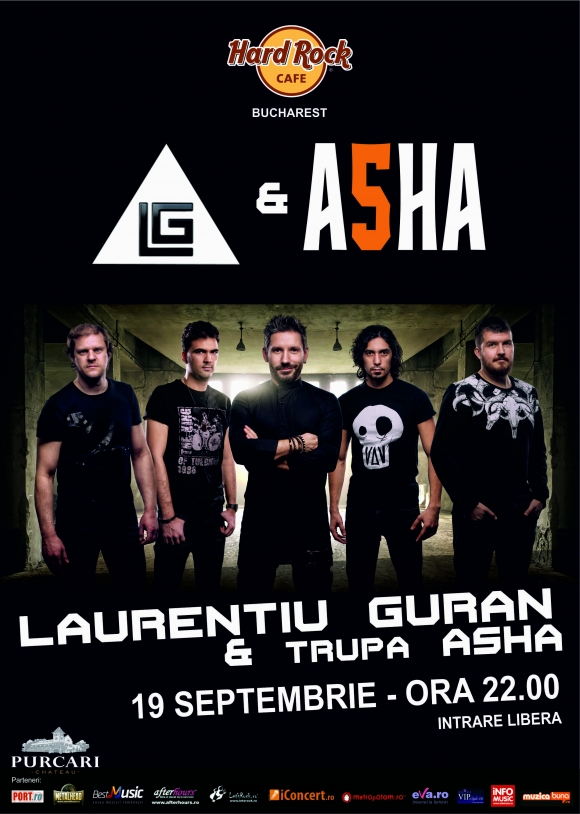 Concert Laurentiu Guran & Asha la Hard Rock Cafe din Bucuresti