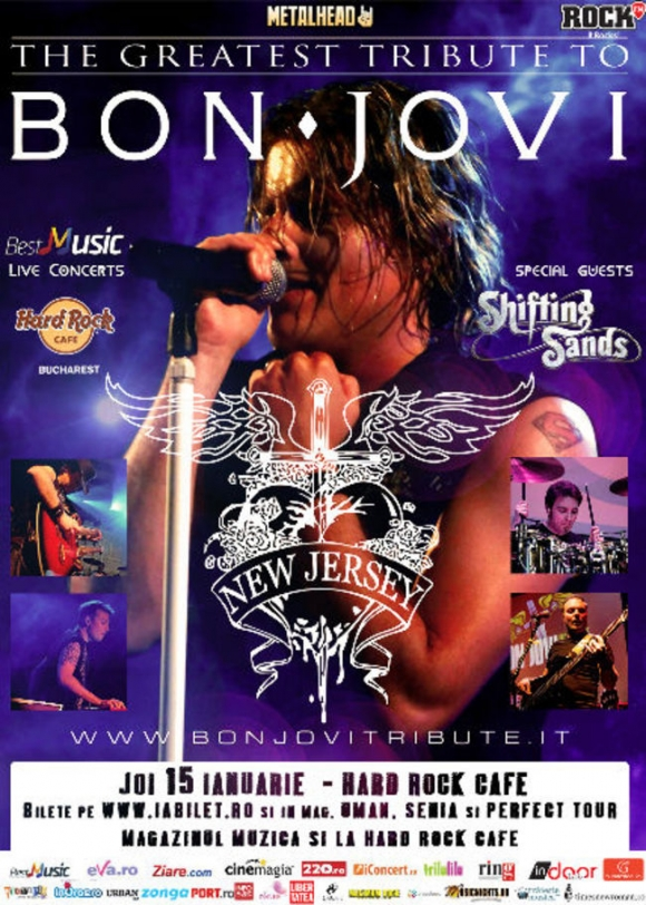 "Bon Jovi Tribute cu ""New Jersey"" la Hard Rock Cafe"