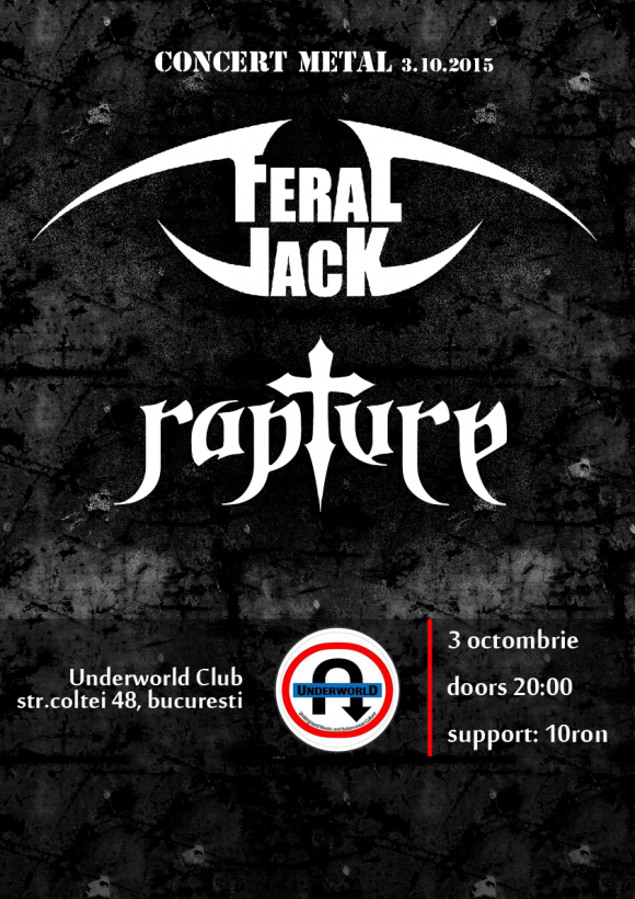 Concert Feral Jack si Rapture in club Underworld