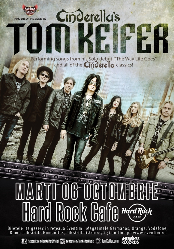 Concertul lui Tom Keifer se muta la Hard Rock Cafe