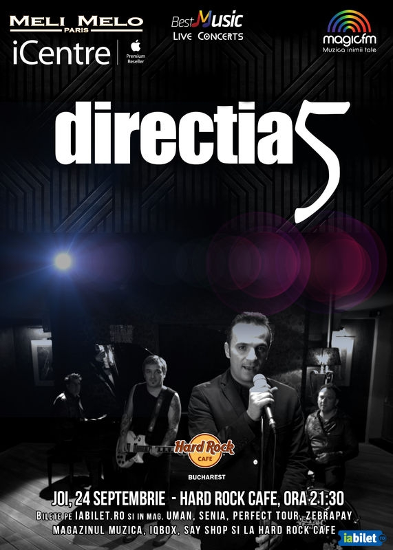 Directia 5 in concert la Hard Rock Cafe