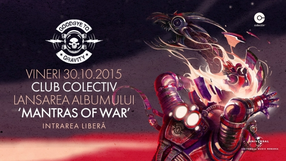Goodbye To Gravity lanseaza noul album 'Mantras of War' in Club Colectiv