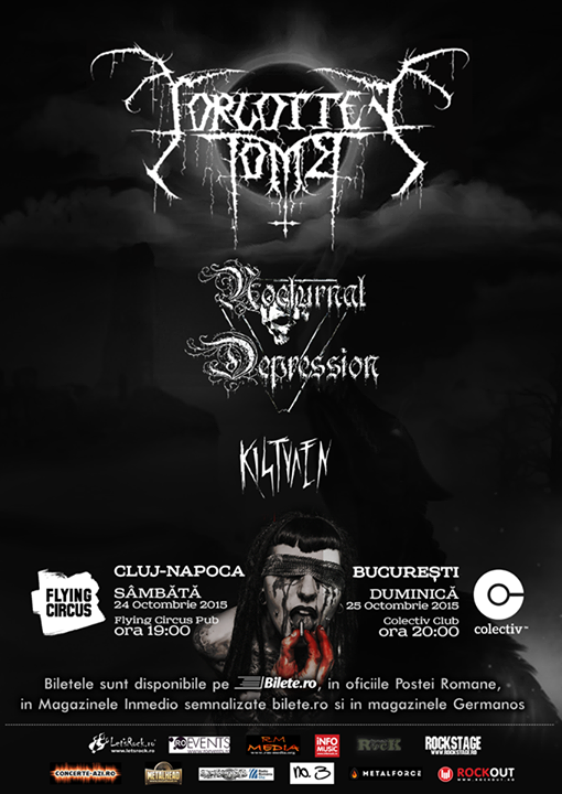 Concert Forgotten Tomb, Nocturnal Depression si Kistvaen in Flying Circus Pub