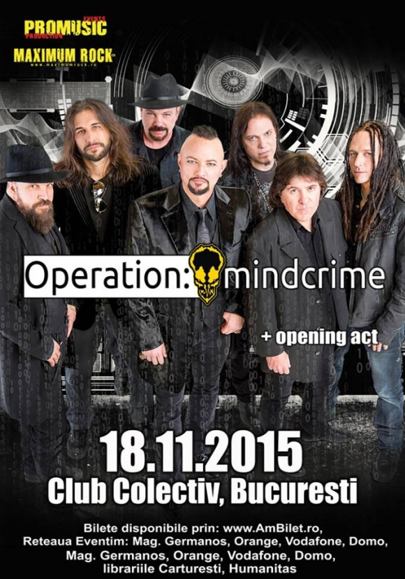Operation:Mindcrime in concert la Bucuresti in Club Colectiv