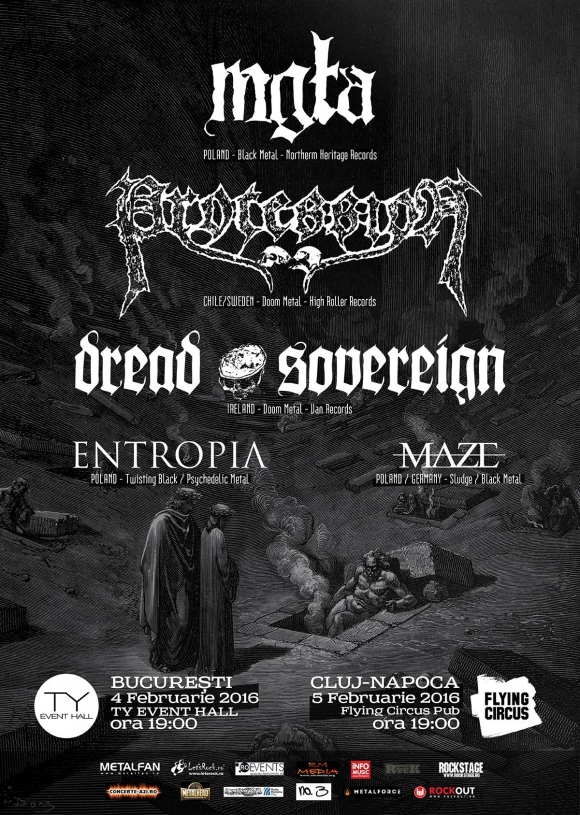 Concertul Mgla, Procession, Dread Sovereign, Entropia si Maze de la Bucuresti se muta la TY Event Hall