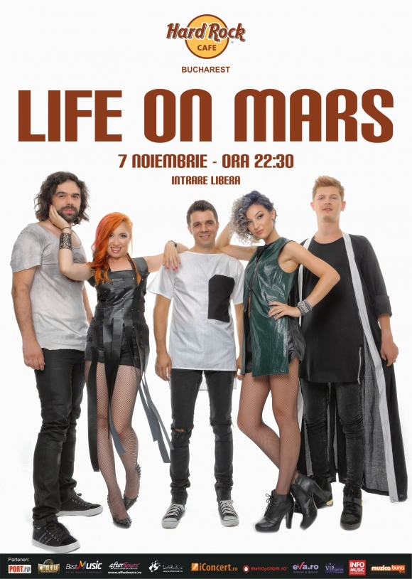 Life on Mars in concert la Hard Rock Cafe