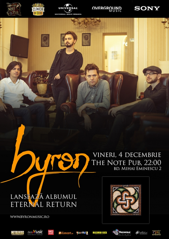 byron lanseaza noul album Eternal Return in The Note Pub din Timisoara