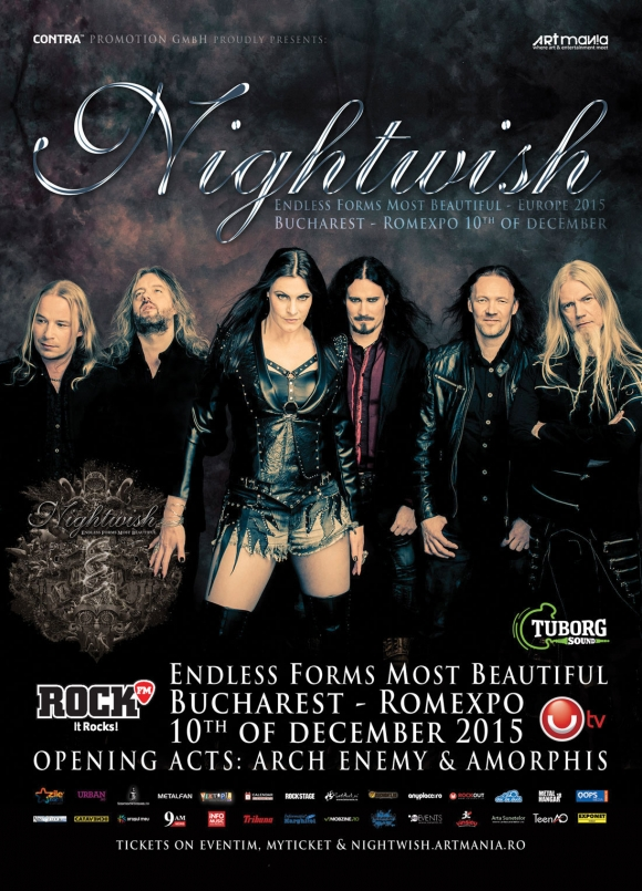 Concert Nightwish, Arch Enemy si Amorphis la Bucuresti
