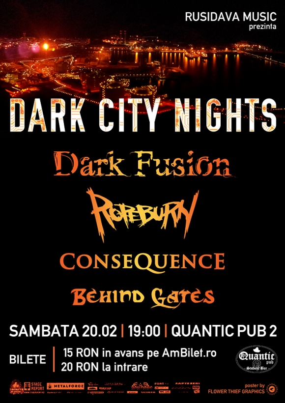 Concert Dark Fusion, Ropeburn, Consequence si Behind Gates in Quantic Pub 2