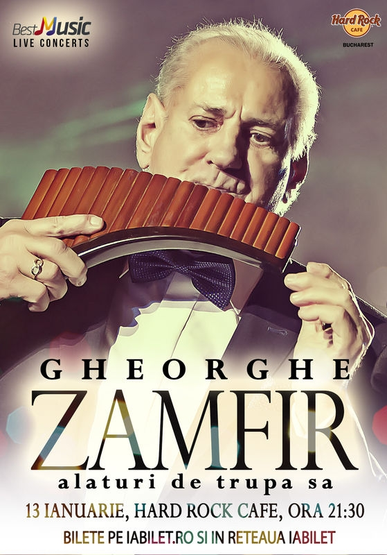 Concert GHEORGHE ZAMFIR & BAND la Hard Rock Cafe