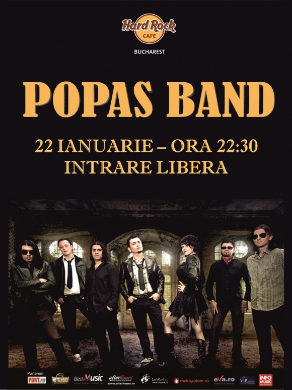 Popas Band in concert la Hard Rock Cafe