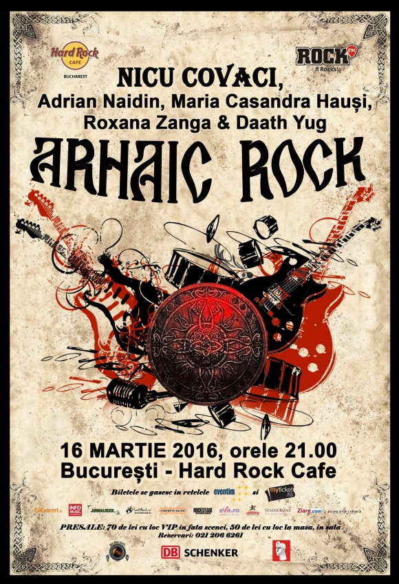 ARHAIC ROCK la Hard Rock Cafe, un eveniment in premiera cu Nicu Covaci