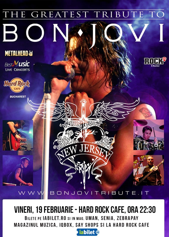 "Best Bon Jovi Tribute cu ""New Jersey"" la Hard Rock Cafe"