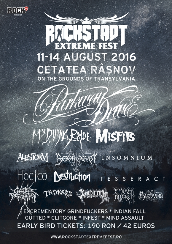 Borknagar, Destruction, Hocico, Infest, Gutted, Clitgore si Mind Assault la Rockstadt Extreme Fest 2016
