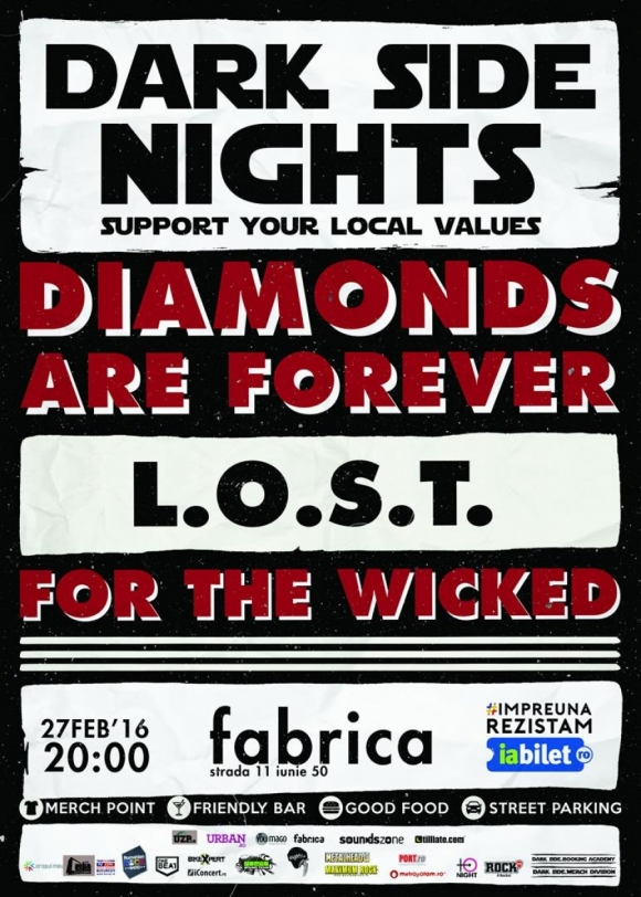 Concert Diamonds Are Forever, L.O.S.T. si For The Wicked in Club Fabrica