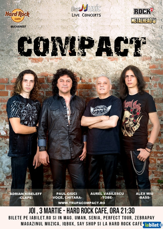 Concert Compact la Hard Rock Cafe