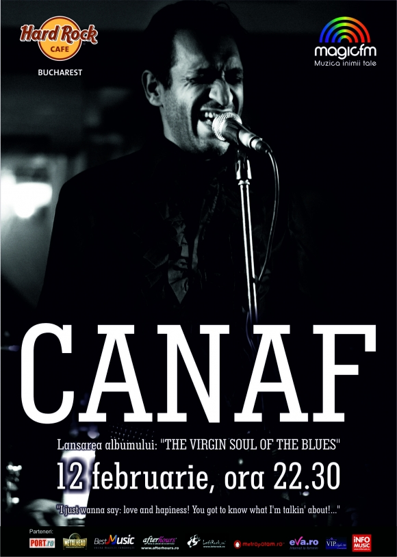 'The Virgin Soul Of The Blues', noul album al lui Iulian Canaf, va fi lansat la Hard Rock Cafe