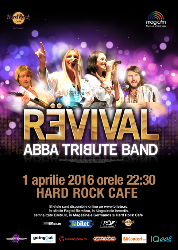 ABBA Tribute Band REVIVAL™ la Hard Rock Cafe - doua categorii de bilete sold-out