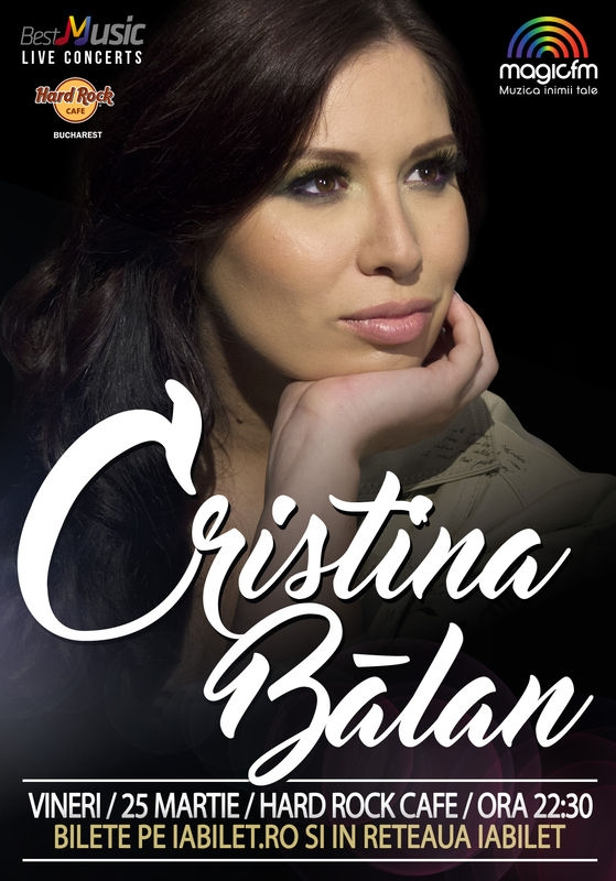 Concert CRISTINA BALAN & BAND la Hard Rock Cafe
