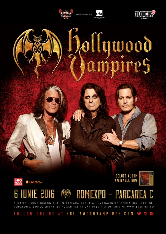 Johnny Depp, Alice Cooper, Joe Perry - The Hollywood Vampires in concert la Romexpo