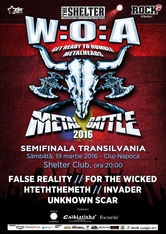 "Prima semifinala ""Wacken Metal Battle"", in club The Shelter"
