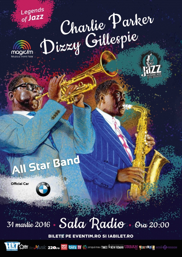Program Charile Parker & Dizzy Gillespie Tribute la Sala Radio