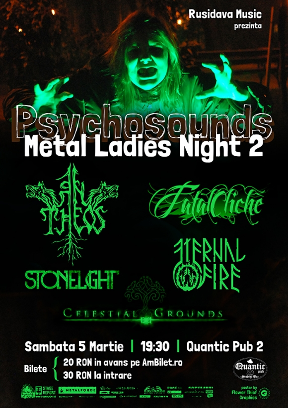 Programul 'Psychosounds Metal Ladies Night' in Quantic Pub 2