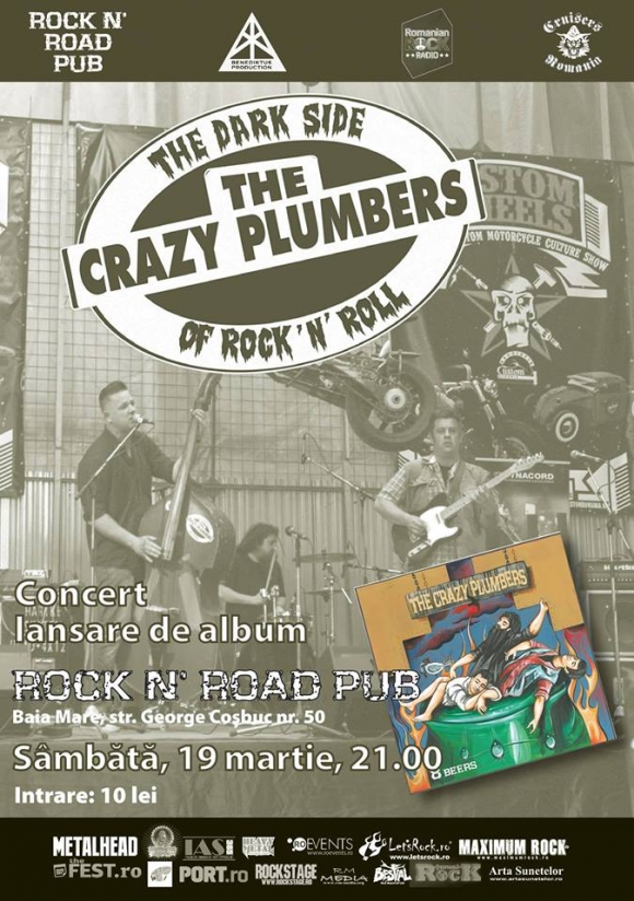 The Crazy Plumbers in concert la Baia Mare