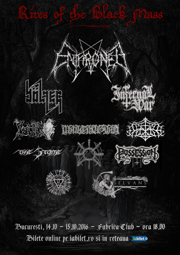 Trupele ENTHRONED si BOLZER sunt confirmate la Rites of the Black Mass Festival
