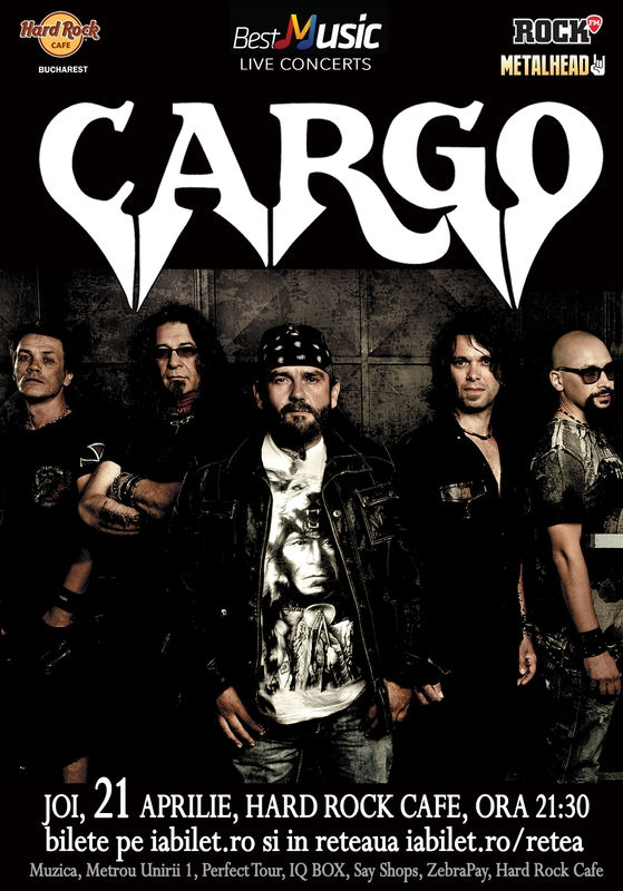 Concert CARGO la Hard Rock Cafe