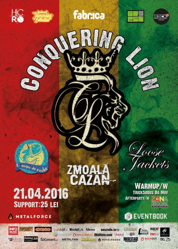 Concert Conquering Lion, L'equipe De Peche si Loose Jacket in Club Fabrica