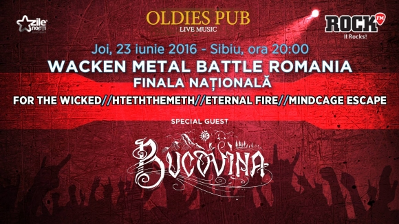 Finala nationala Wacken Metal Battle Romania in club Oldies Pub din Sibiu