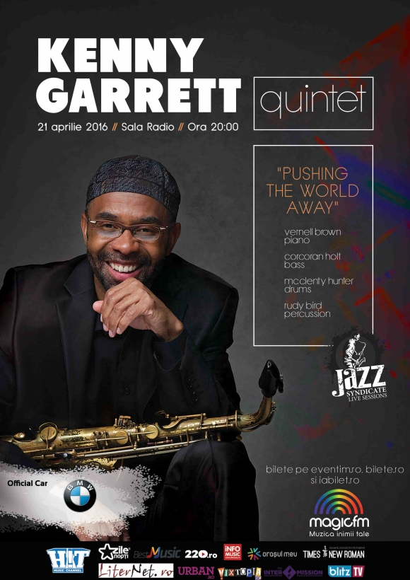 Saxofonistul Kenny Garrett aduce Pushing de World Away la Sala Radio