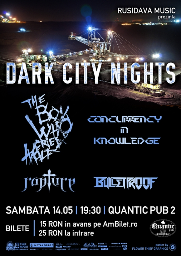 Concert The Boy Who Cried Wolf, Concurrency In Knowledge, Rapture si Bulletproof in Quantic Pub 2