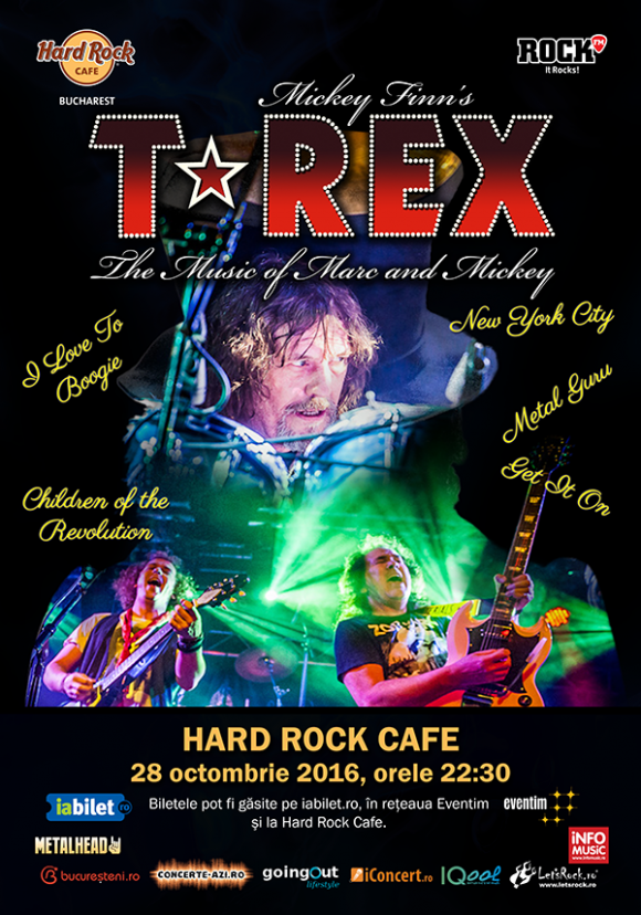 T-Rex vor concerta la Hard Rock Cafe