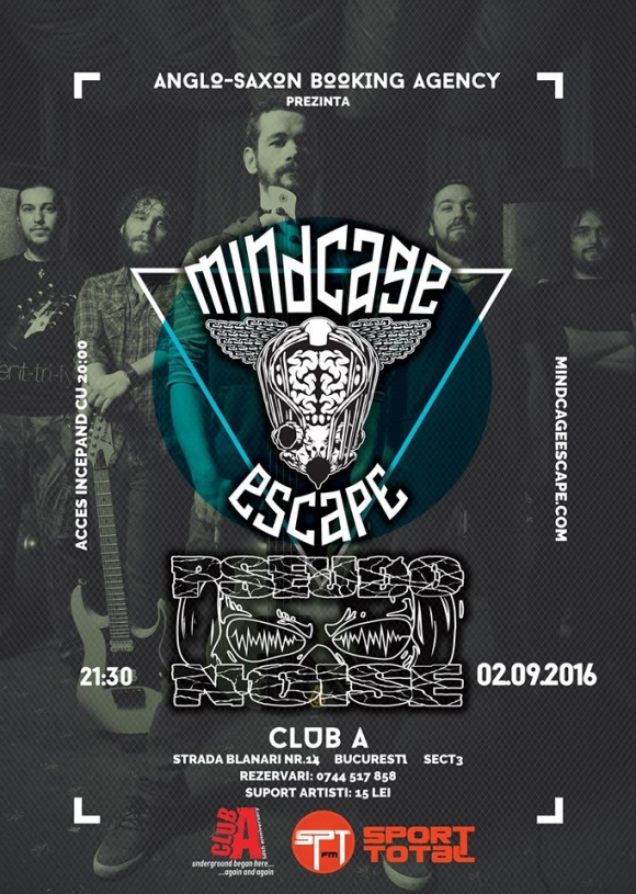 Concert Mindcage Escape si Pseudonoise in Club A