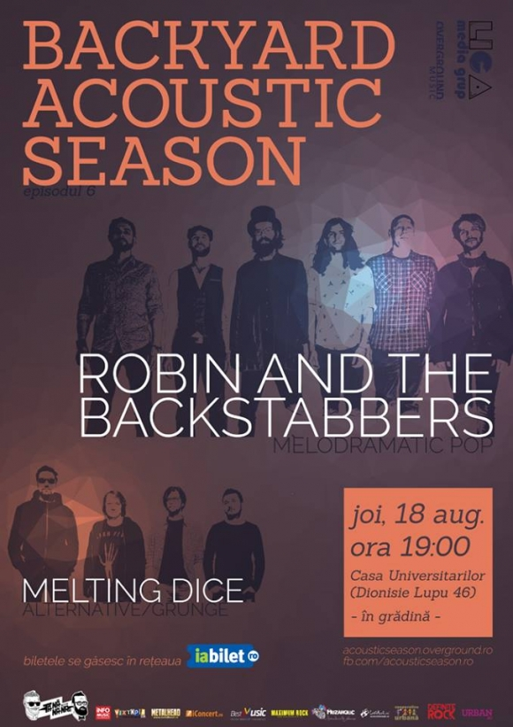 Concert Robin and The Backstabbers si Melting Dice la Casa Universitarilor din Bucuresti