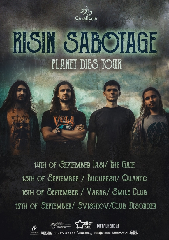 O serie de concerte Risin Sabotage in cadrul Planet Dies Tour