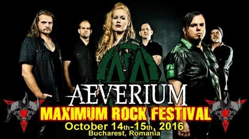 Trupa AEVERIUM confirmata la Maximum Rock Festival 2016
