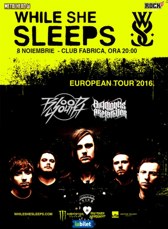 Concert Diamonds Are Forever, Blood Youth si While She Sleeps in Club Fabrica