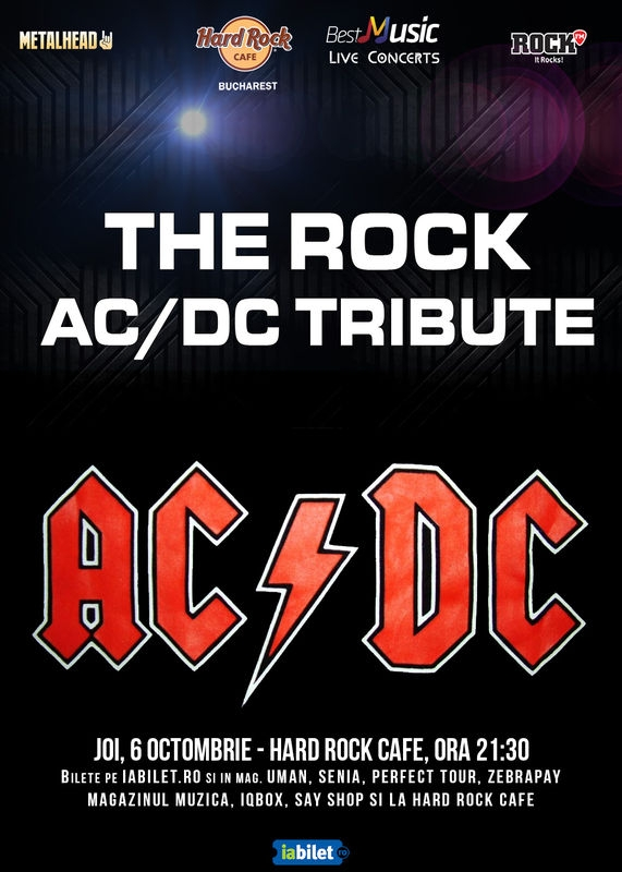 Concert Tribut AC/DC la Hard Rock Cafe cu trupa The Rock