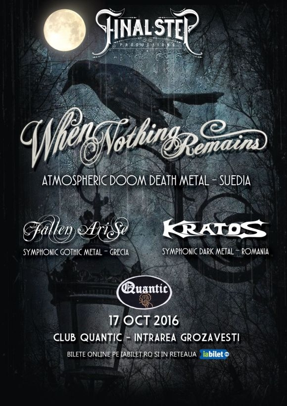 Concert When Nothing Remains, Fallen Arise si Kratos in Club Quantic
