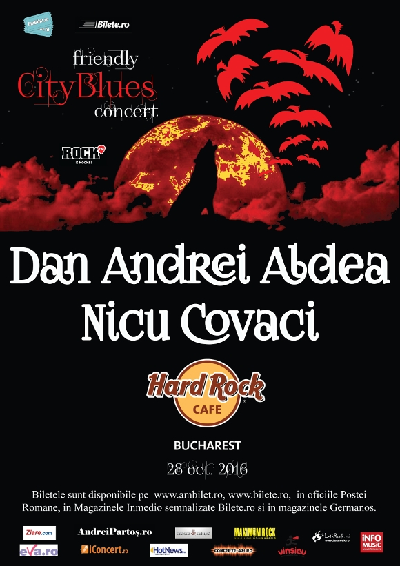 Friendly CityBlues Concert - Dan Andrei Aldea si Nicu Covaci, la Hard Rock Cafe